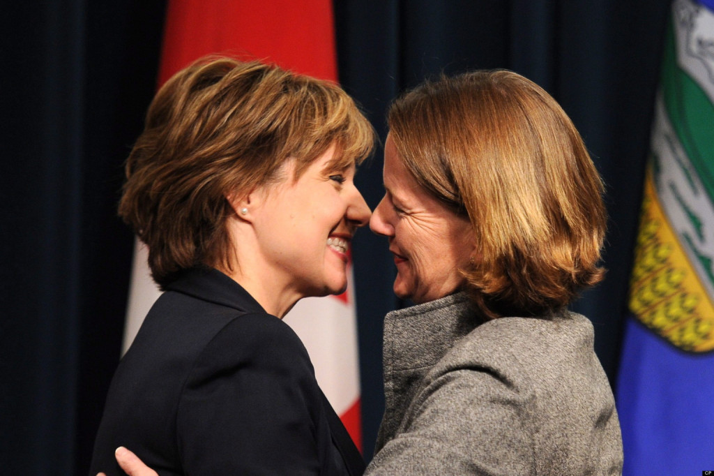 Alison Redford, Christy Clark