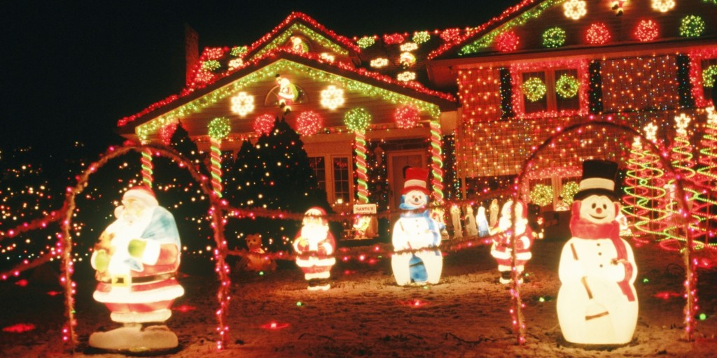Outdoor christmas decorations near Wilmington. Delaware