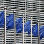 European Union flags flutter outside the EU Commission headquarters in Brussels, Belgium, in this file picture taken October 28, 2015. REUTERS/Francois Lenoir/Files