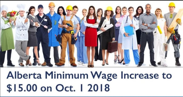 Minimum Wage in Alberta October 1 2018